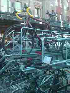 London Waterloo Station cycle parking