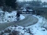 Memmingen Cycle Route, still clear at -15C