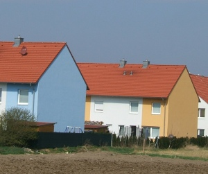 Coloured houses Danube valley