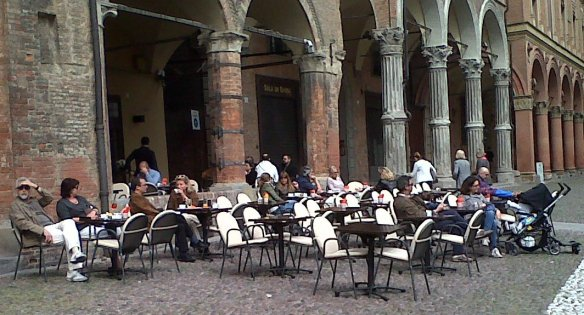 Bologna Cafe and porticoes