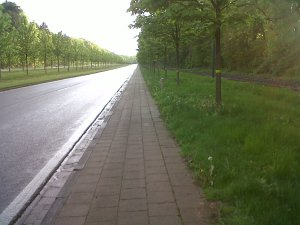 Avenue de Tervuren cycle path at the Tervuren end