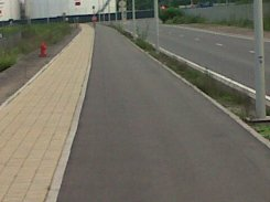 Proper tarmac cycle lane in Brussels