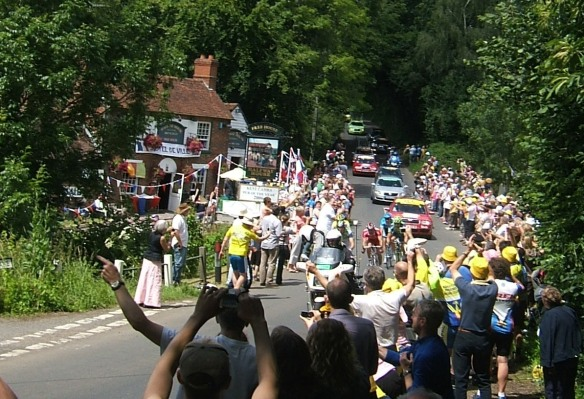 Tour de France at the Halfway Inn, Kent, England