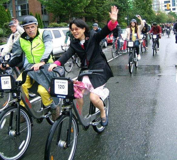 Vancouver bike parade