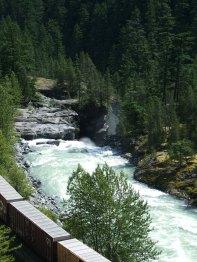 Train and waterfalls