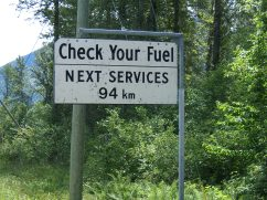 Sign near Pemberton British Columbia