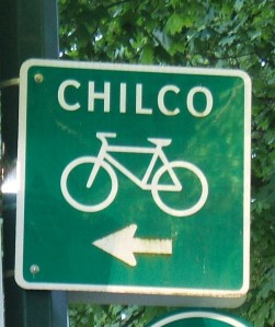 Chilco cycle route sign, Vancouver