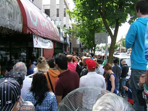 Soccer fans, Commercial Road, Vancouver