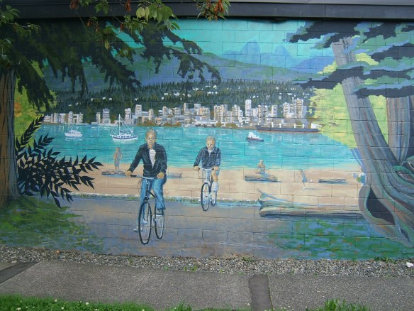 Cycling mural Vancouver