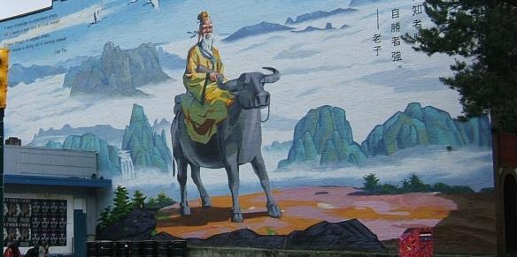 Lao Tsu mural  Chinatown Vancouver