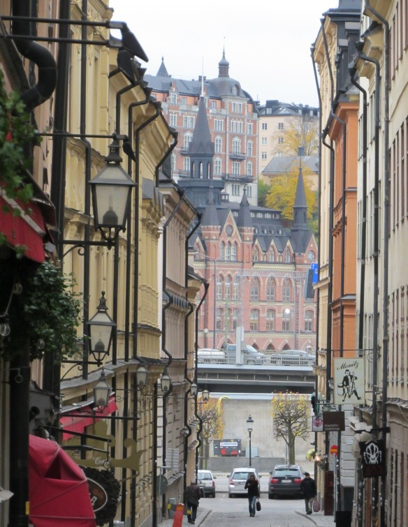 narrow streets of the old city looking North East