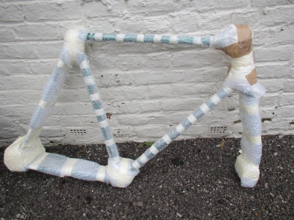 Wrapped bicycle frame