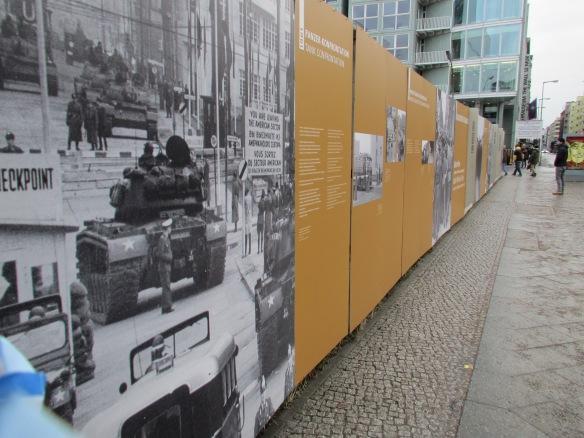 Berlin wall displays