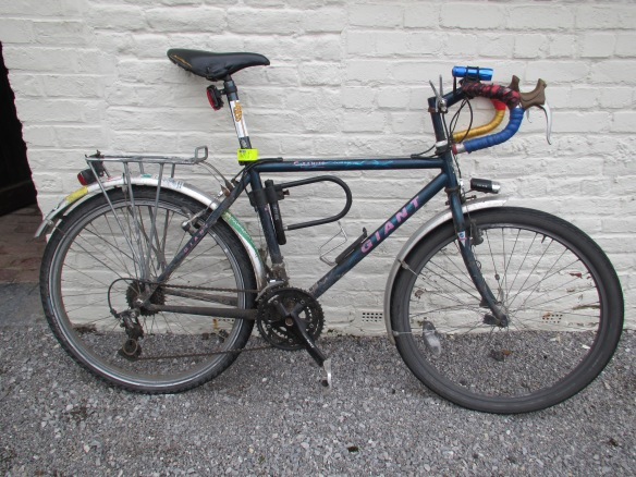 Mountain bike converted to road