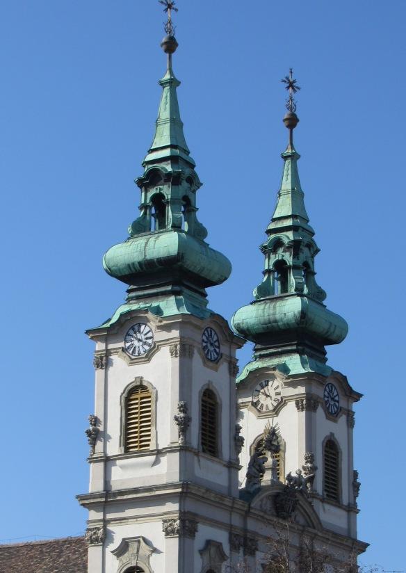 Church by Danube in Buda Hungary