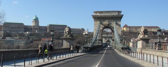 Chain Bridge and Buda castle Budapest