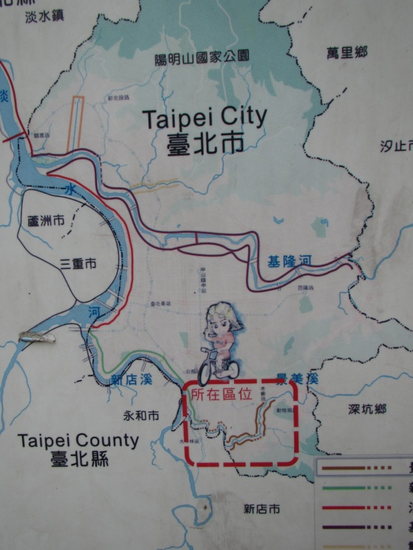 Map of Taipei Cycle paths Taiwan