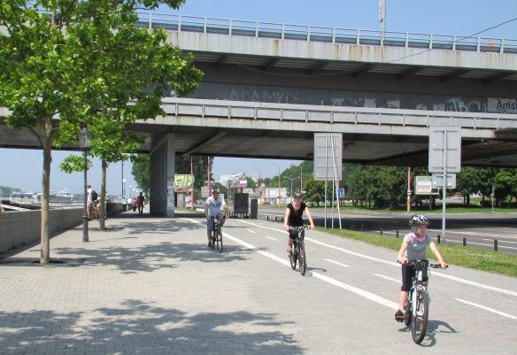 Cycling by the Danube Bratislava