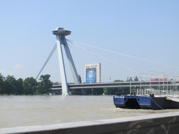 High water levels, Danube river, Bratislava June 2013