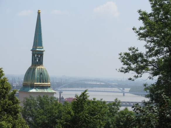 View over the Danube from Bratislava Castle