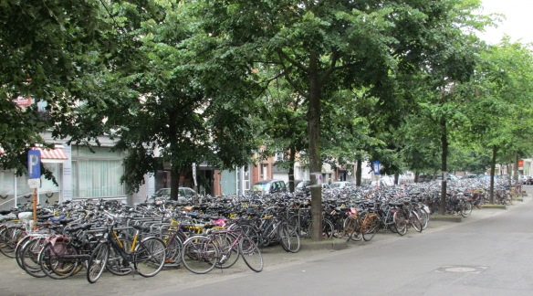 Cycle parking Ghent station 2
