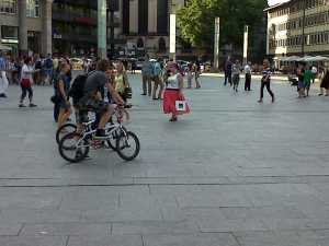 Cyclists Domplatz Koln Cologne