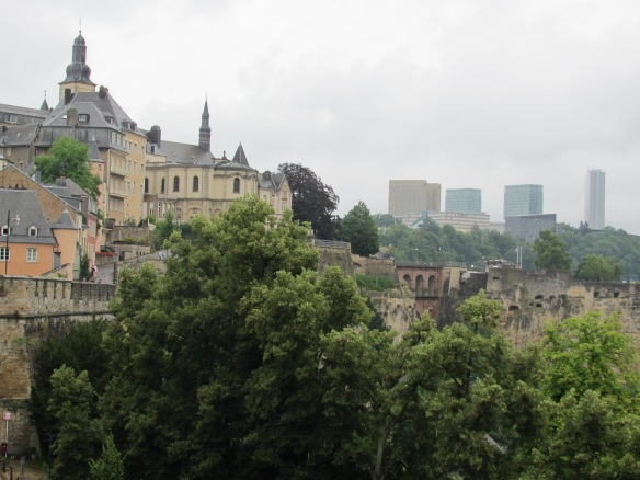 Luxembourg Old town and Kirchberg