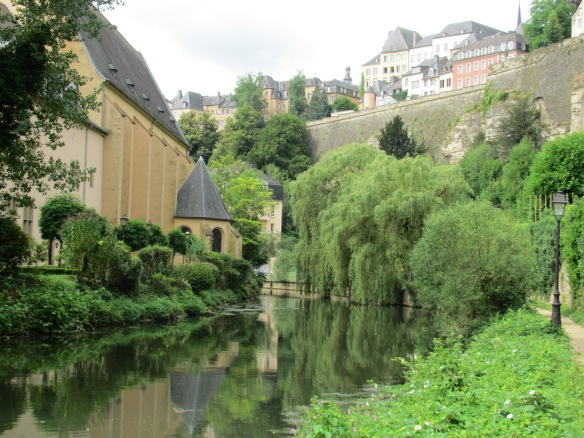 Luxembourg River Alzette and Eglise St Jean