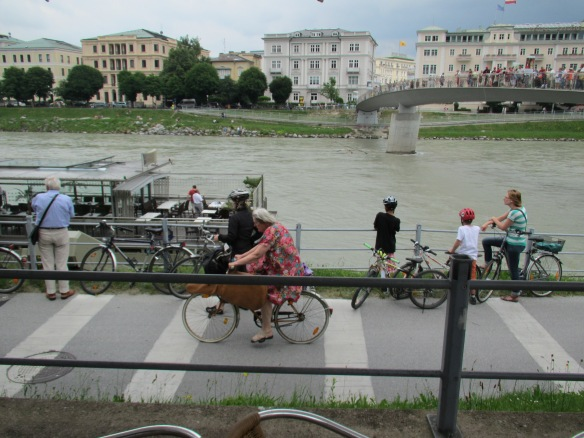 Salzach river cycling