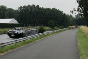 Scheldt River path Gavere Flanders