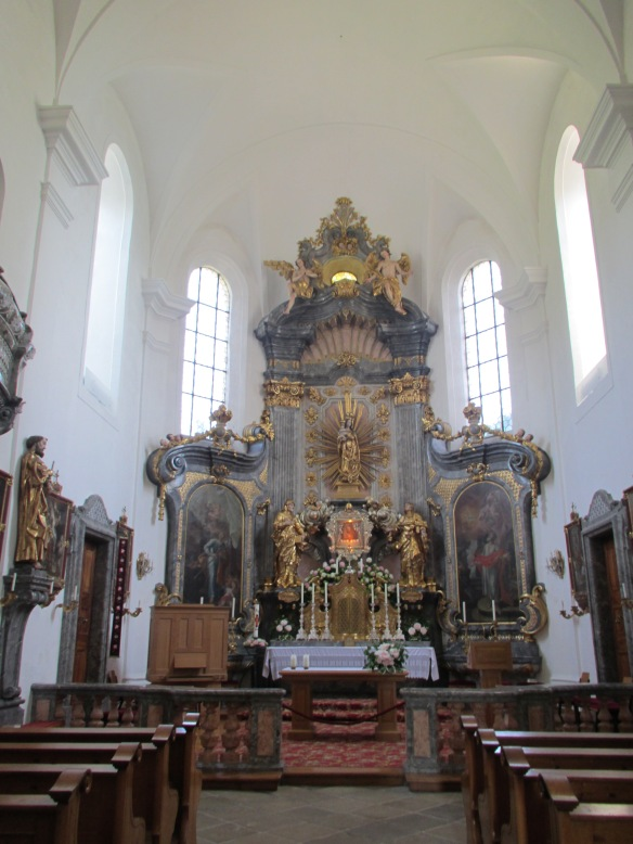 Church interior Attersee am Attersee