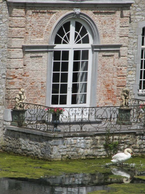 Jardins D'Annevoie and swan