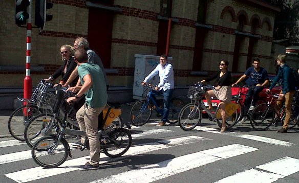 ECF riding in Brussels