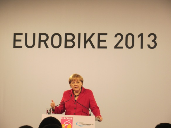 Angela Merkel at Eurobike