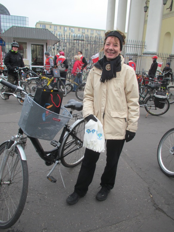 Gudrun Basche representative of German Embassy at COP Climate ride