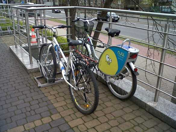 Hyatt Hotel Warsaw cycle parking