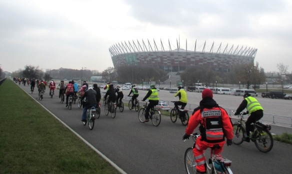 National Stadium COP 19 Warsaw Climate ride