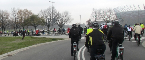 national Stadium entry climate ride Warsaw