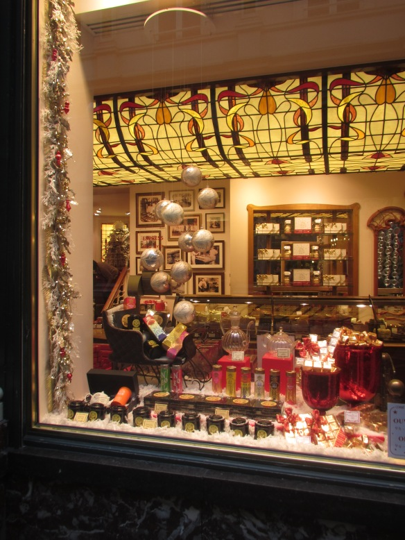 Christmas display Galleries Royale Brussels
