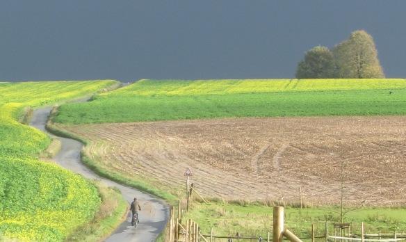 lone cyclist Lasne Chapelle St Lambert