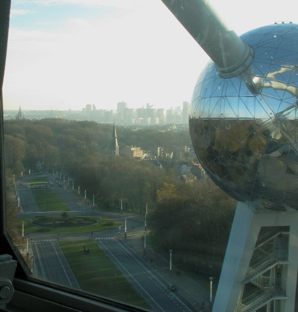 View of Brussels from the Atomium