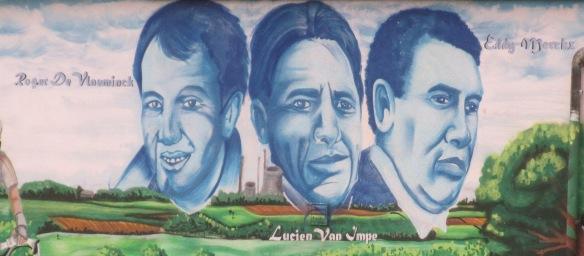Belgian cycling heroes on mural