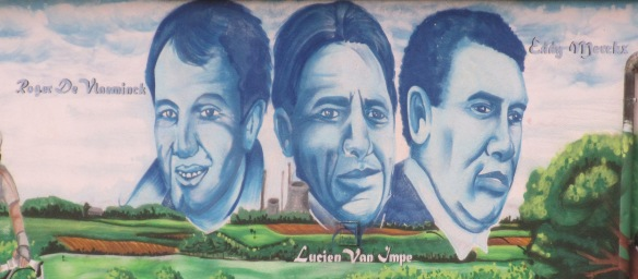 Belgian cycling heroes on mural