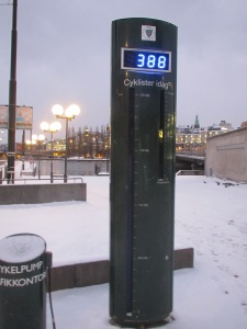 Bicycle counter Stockholm