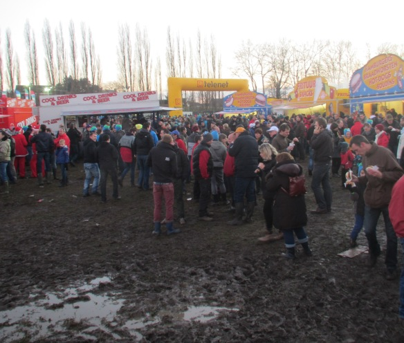 Diegem Night falls over cyclocross