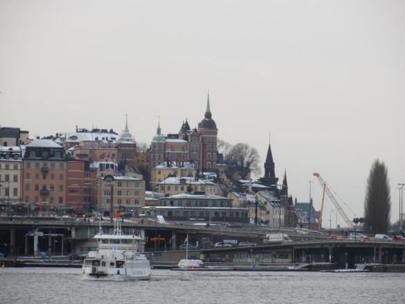 Slussen Stockholm from cruise boat