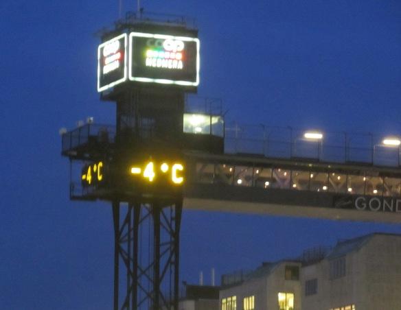 temperature Stockholm Gondola