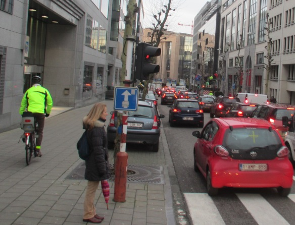 Brussels EU district congestion