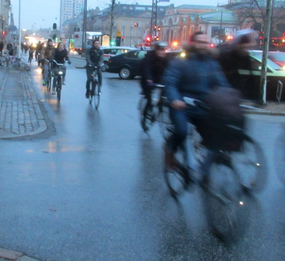 Copenhagen cycling rush hour
