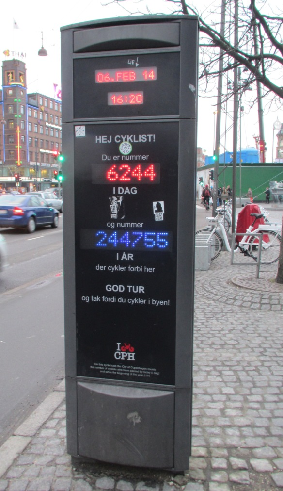 Copenhagen cyclist counter